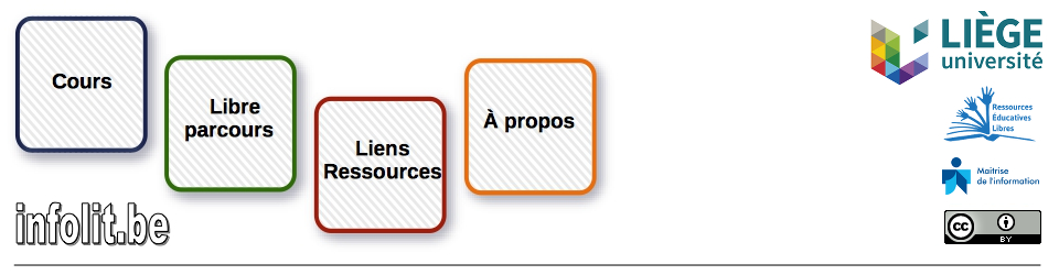 Supports de cours et formations Infolit.be